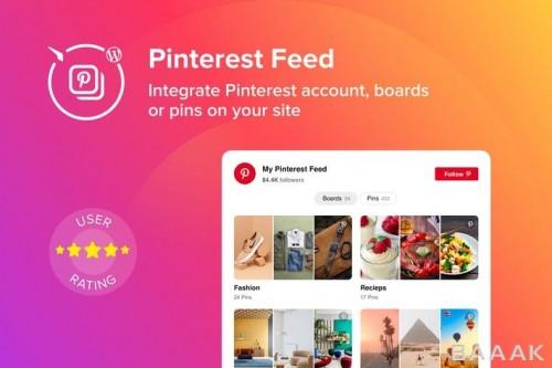 افزونه وردپرس برای نمایش مشخصات خود و پین و صفحه از Pinterest
