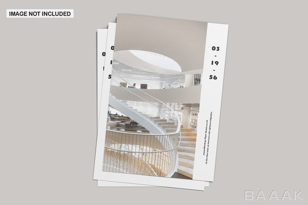 موکاپ تراکت کارتی با طراحی مینیمال به صورت عمودی