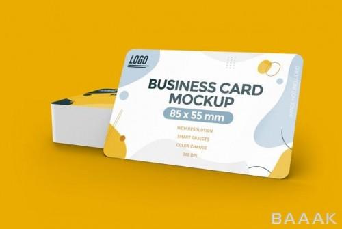 موکاپ کارت ویزیت با گوشه های گرد