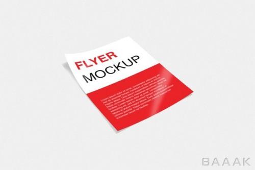 موکاپ پوستر و تراکت تبلیغاتی با تم قرمز و سفید رنگ