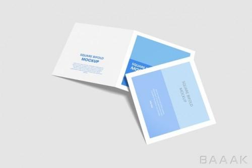 موکاپ بروشور و کاتالوگ های آبی و سفید رنگ