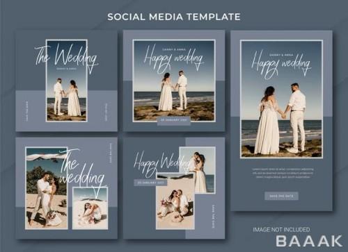 قالب پست های عروسی اینستاگرام با طراحی زیبا و منحصر به فرد