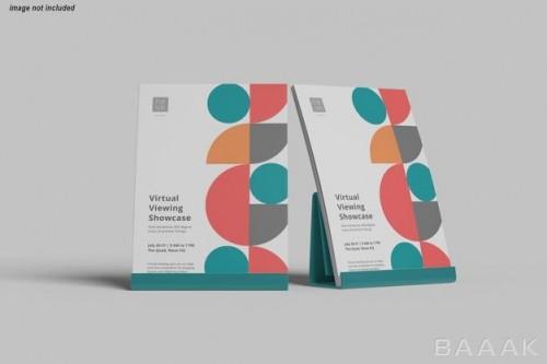 موکاپ پوستر از نمای نزدیک با طراحی جذاب رنگارنگ