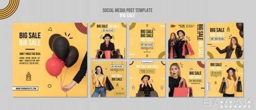 مجموعه قالب پست های تبلیغاتی اینستاگرام برای فروش ویژه پوشاک