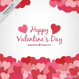 پس زمینه به همراه قلب های جذاب با موضوع روز ولنتاین