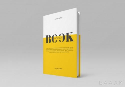 موکاپ کاور سخت کتاب ایستاده