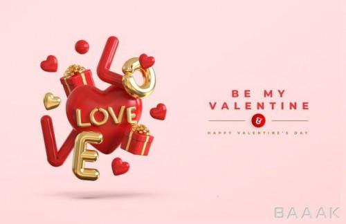 طرح هنری  و وکتور تبریک روز ولنتاین
