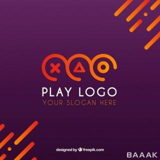 لوگوی آماده با طراحی مدرن برای بازی ویدیویی
