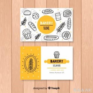 کارت ویزیت برای نانوایی و شیرینی پزی