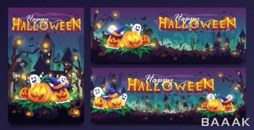 قالب آماده با سایزهای مختلف برای هالووین
