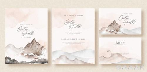 قالب های کارت ویزیت،دعوت  آبرنگی مخصوص عروسی