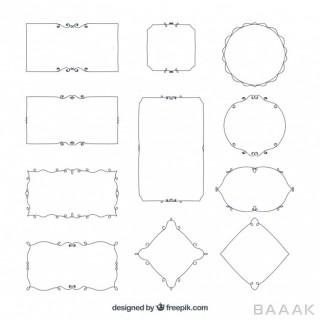 ست قاب و حاشیه در شکل های مختلف
