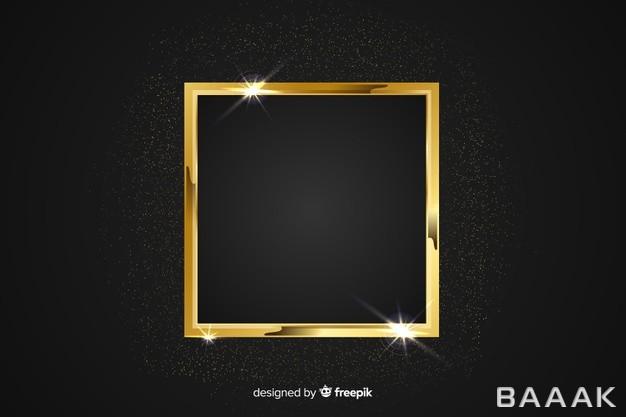 قاب-طلایی-رنگ-و-براق-به-همراه-پس-زمینه-مشکی_823017889