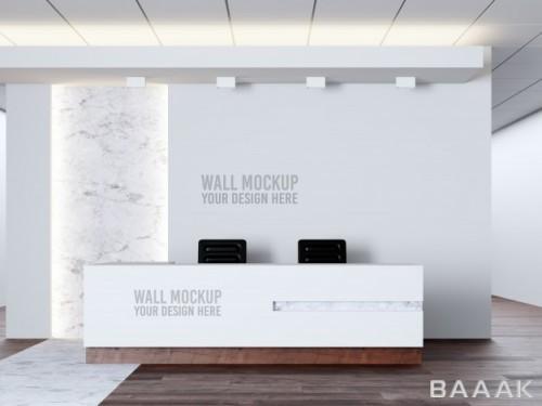 موکاپ طراحی داخلی (موکاپ دیوار و میز و...) کلینیک پزشکی
