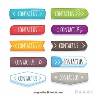 کالکشن گزینه ارتباط با ما در وبسایت در طرح و رنگ های مختلف