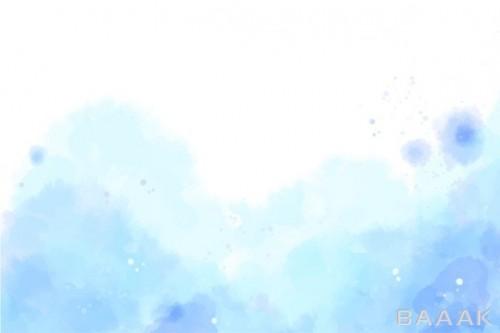پس زمینه آبرنگی زیبا به رنگ آبی