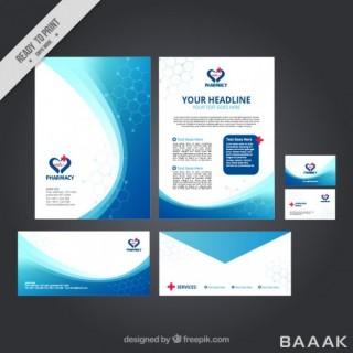 مجموعه قالب های آماده  کارت ویزیت،بروشور،پاکت برای امور مهندسی