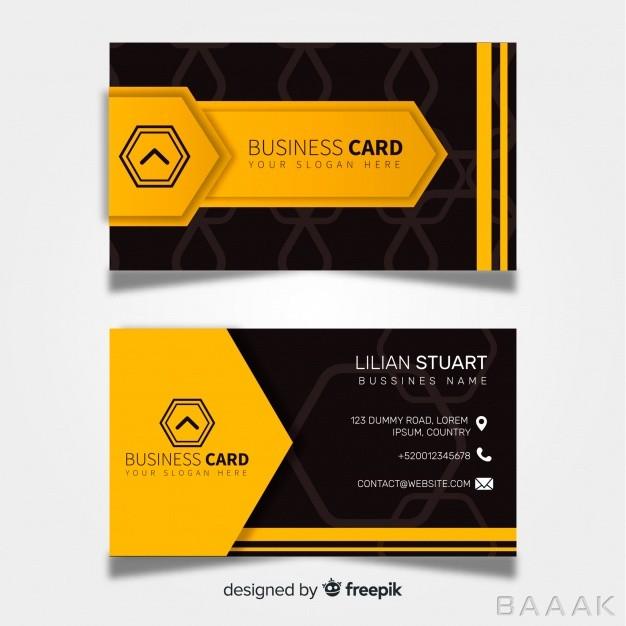 کارت-ویزیت-تجاری-آماده-با-طرح-انتزاعی_992968531