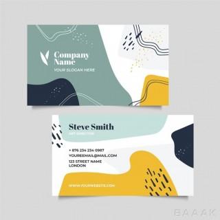 کارت ویزیت انتزاعی برای کمپانی ها با استایل ممفیس