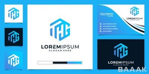 قالب دیزاین لوگو و کارت ویزیت مدرن و لاکچری
