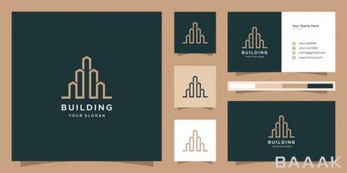 لوگو و کارت ویزیت شیک با طرح ساختمان