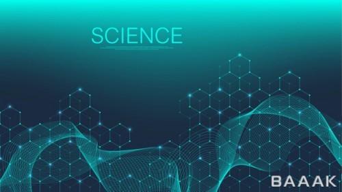بکگراند پزشکی-علمی با طرح مولکول