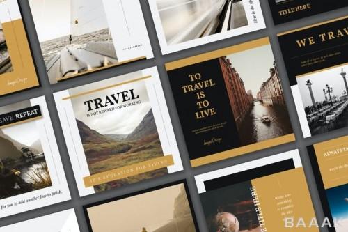قالب پست سوشال مدیا درباره مسافرت