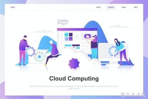 قالب لندینگ پیج رایانش ابری