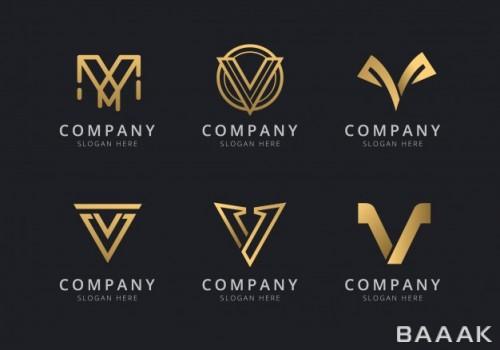 ست لوگو مدل حرف V