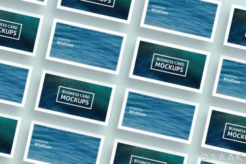 موکاپ کارت ویزیت ساده با طرح دریا