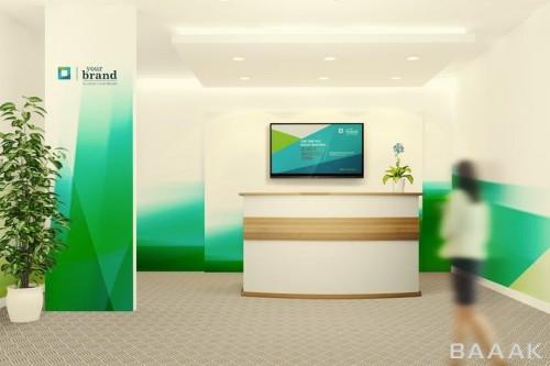 پک موکاپ طراحی داخلی دفتر
