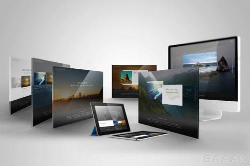 موکاپ صفحه نمایش دسکتاپ، تبلت و تلویزیون