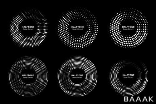 ست قالب های لوگو با قاب دایره ای زیبا