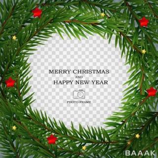 قالب فریم عکس مناسب برای تبریک سال نو و کریسمس