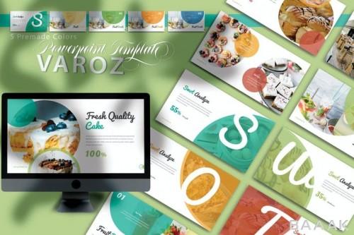 قالب ارائه مینیمال پاورپیونت با موضوع غذا و آشپزی