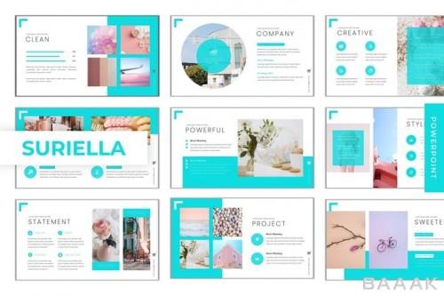 قالب ارائه پاورپوینت با 5 رنگ مختلف با طراحی زیبا و جذاب و چندمنظوره