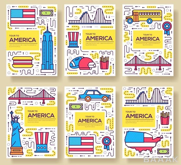 ست-پوستر-و-بنر-های-جذاب-کارتونی-برای-سفر-به-آمریکا-و-معرفی-جاذبه-های-گردشگری_474901999