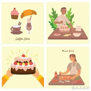 تصاویر کارتونی با موضوع آشپزی