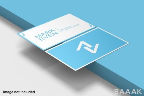 موکاپ کارت ویزیت آبی-سفید