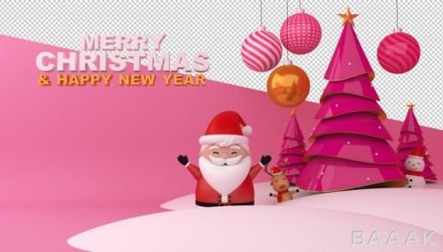 موکاپ کارت تبریک کریسمس