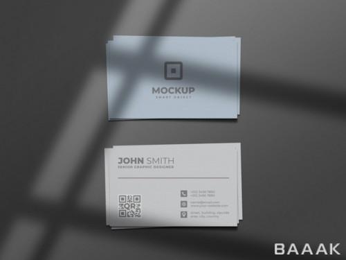موکاپ ساده و مینیمال کارت ویزیت
