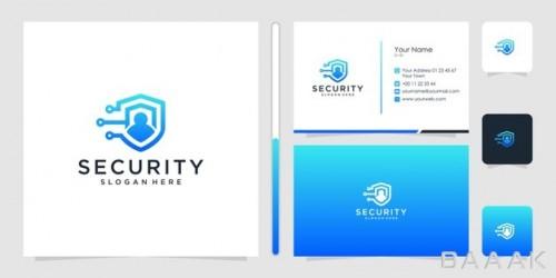 قالب کارت ویزیت با لوگوی طرح امنیت