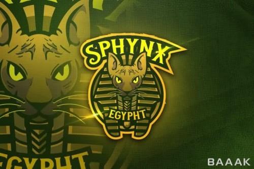 لوگو ماسکوت طرح پلنگ با لباس مصری