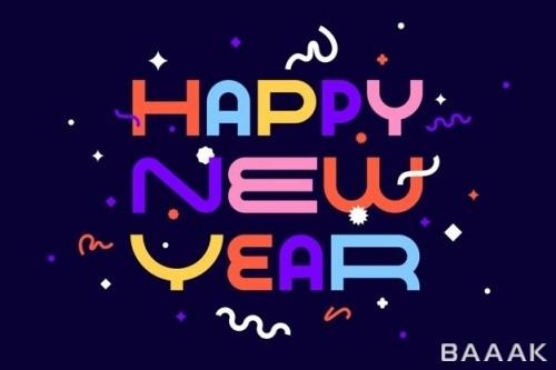 تایپوگرافی تبریک سال نو