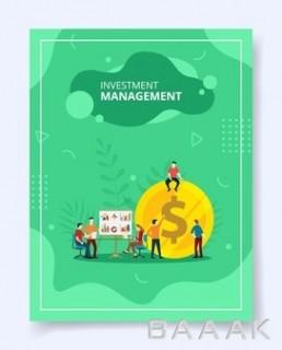 پوستر با مفهوم مدیریت سرمایه گذاری