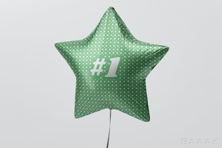 موکاپ-بادکنک-شکل-ستاره-سبز-رنگ_607045071