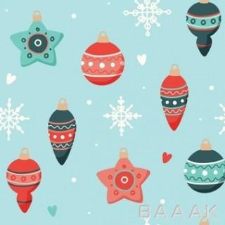 پترن با طرح آویزهای کریسمسی