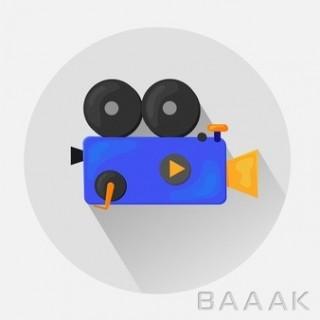 آیکون طرح دوربین فیلمبرداری