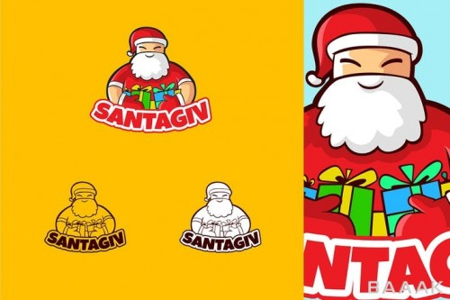 لوگو با طرح بابانوئل