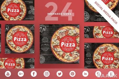 قالب پست شبکه های اجتماعی مناسب رستوران